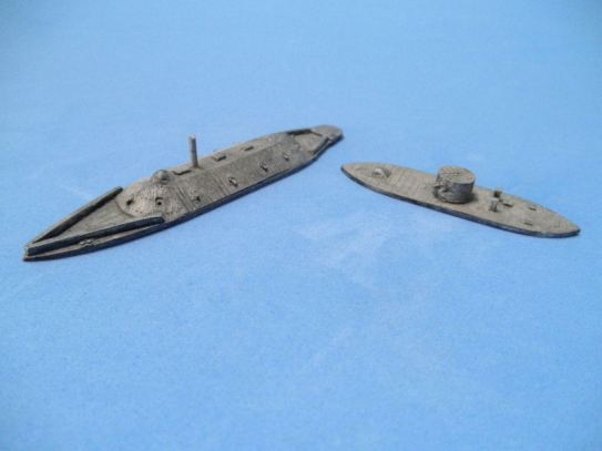 Houston's Ships 1/1200 Ships: HSS20 USS Monitor, CSS Manassas / HSS21 USS Keokuk, CSS Virginia (Merrimac)