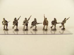 15mm ACW Infantry: ACW1 Kepi, Advancing & Charging