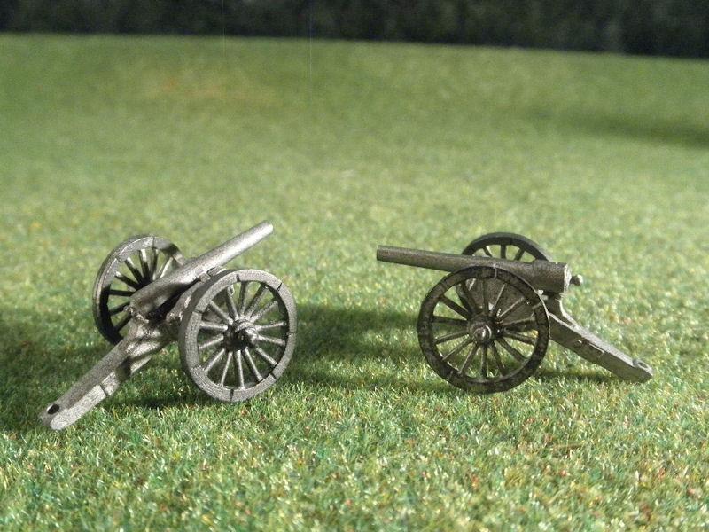 """15mm ACW Artillery: ACW109 Parrott 30 pound & Ordnance Rifle 4.5"""""""