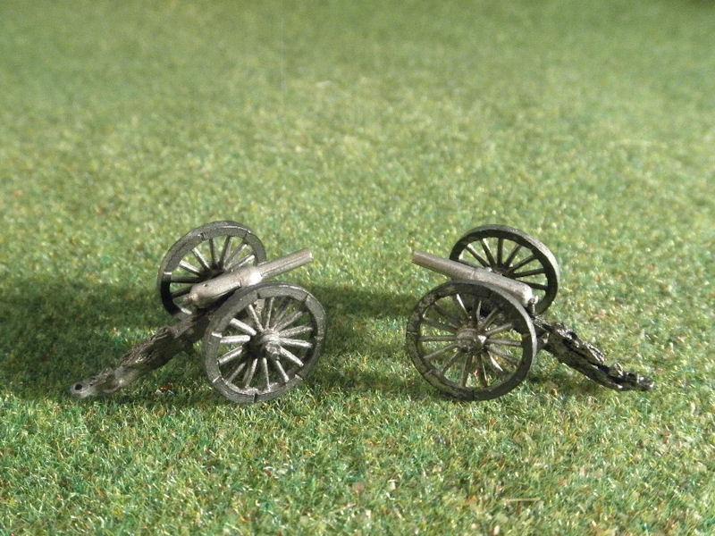 15mm ACW Artillery: ACW110 Blakely 12 pound & Wiard 10 pound