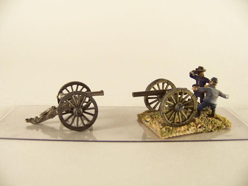 15mm ACW Artillery: ACW111 James 12 pound & Parrott 20 pound