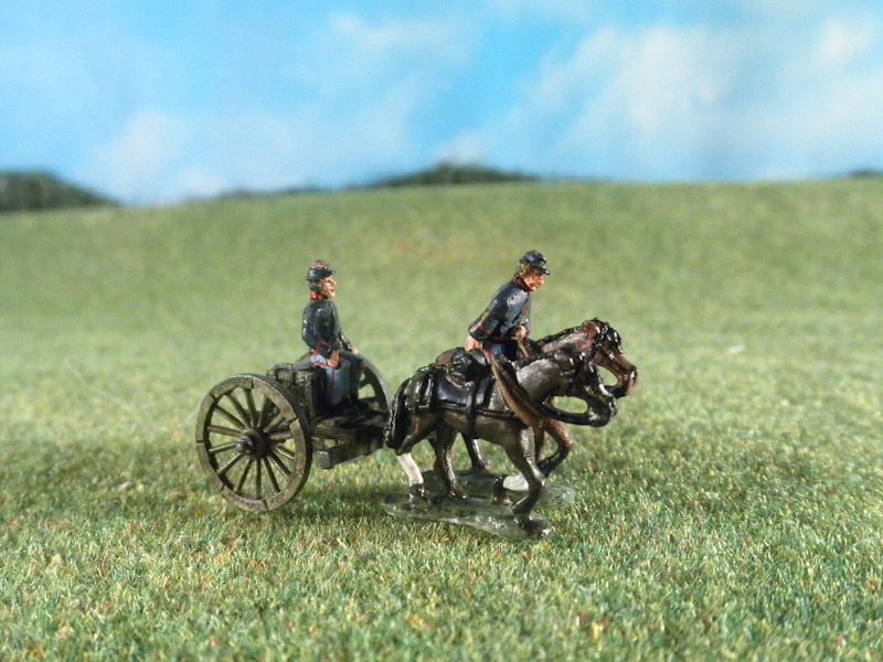 15mm ACW Artillery: ACW122 Artillery Limbers with Running Horses & Crew