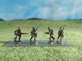 15mm ACW Infantry: ACW15 VMI Cadets, Advancing & Charging