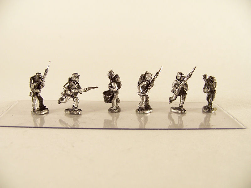 15mm ACW Infantry: ACW2 Kepi with Backpack, Advancing & Charging