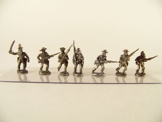 15mm ACW Infantry: ACW23 Ragged Rebels, Mixed, Advancing & Charging