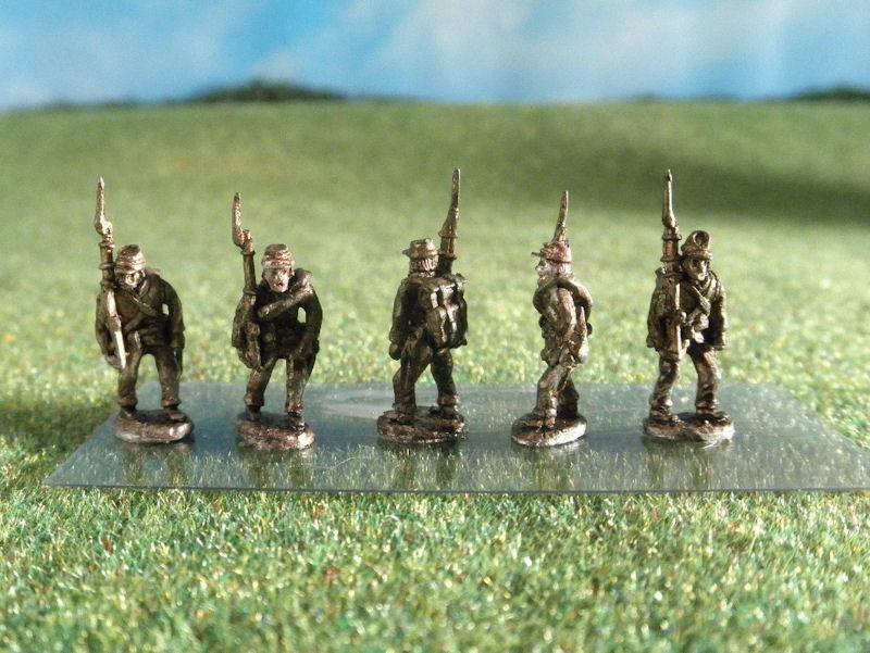 15mm ACW Infantry: ACW3 Kepi, Marching, Slope Arms
