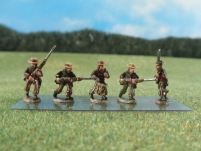 15mm ACW Infantry: ACW37 Zouaves, Advancing & Charging, Straw Hat