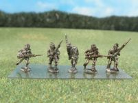 15mm ACW Infantry: ACW41 Black Infantry (Kepi), Advancing & Charging