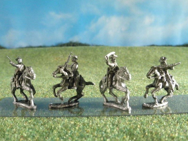 15mm ACW Cavalry: ACW 59 - ACW60 Soft Hats with Carbines, Sabers, & Pistols