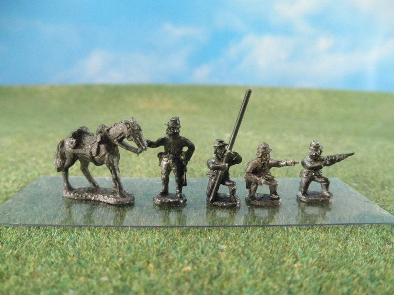 15mm ACW Cavalry: ACW68 Dismounted Cavalry, Kepis