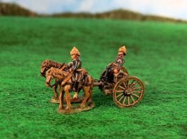 15mm British Colonials: LBN119 British Artillery: Limbers with Horses and Crew