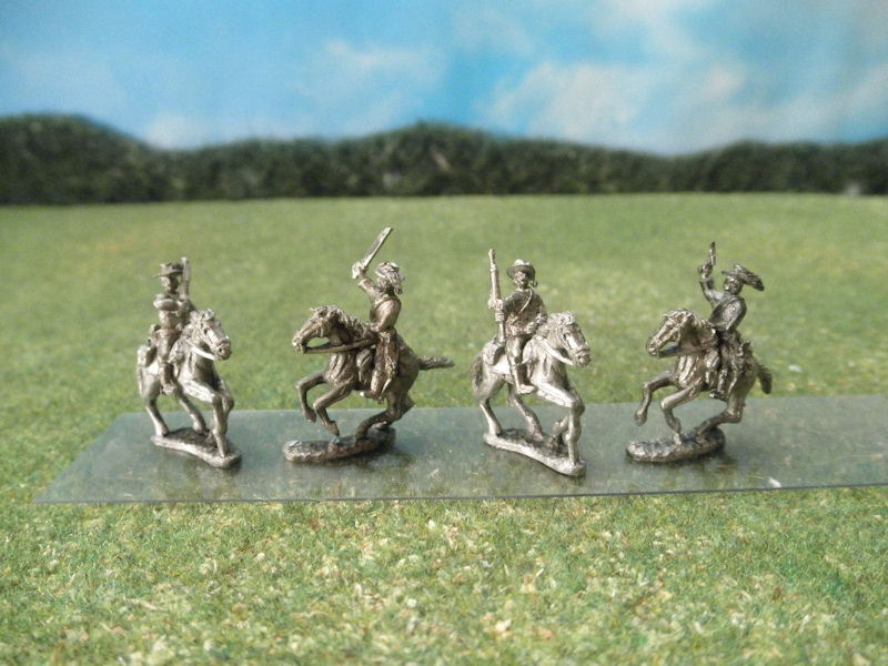 15mm ACW Cavalry: ACW57 - ACW58 Plumed Hats with Carbines, Sabers, and Pistols