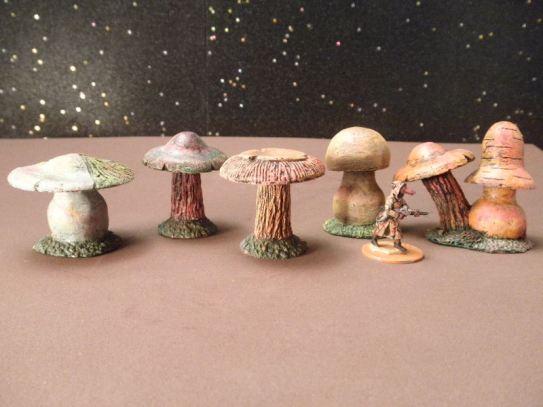 25mm Science Fiction & Fantasy Terrain: FAN200 Alien Fungus Plants