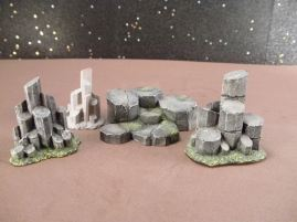 25mm Science Fiction & Fantasy Terrain: FAN205 Alien Rock Formations