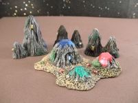 25mm Science Fiction & Fantasy Terrain: FAN206 Alien Crystal Formations