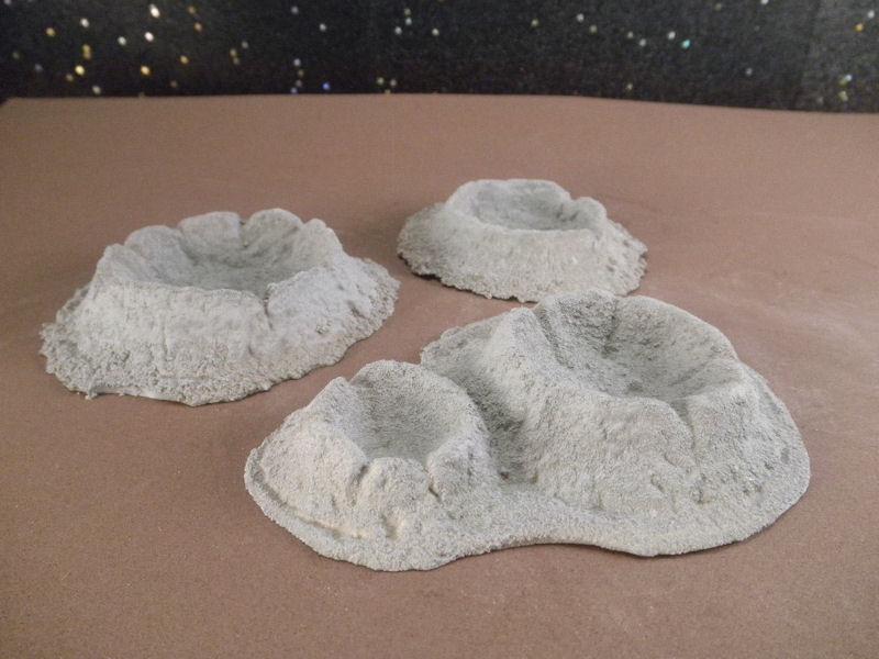 6mm Science Fiction Buildings & Terrain: FAN615 Lunar Craters