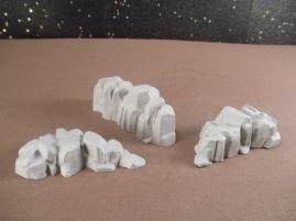 6mm Science Fiction Buildings & Terrain: FAN618 Rocky Ridges