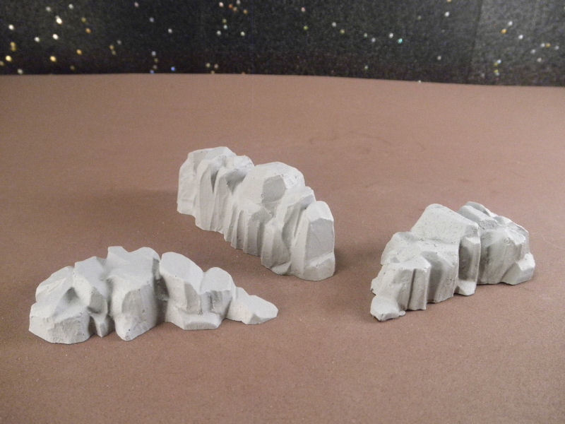 6mm Science Fiction Buildings & Terrain: FAN618 Rocky Ridges