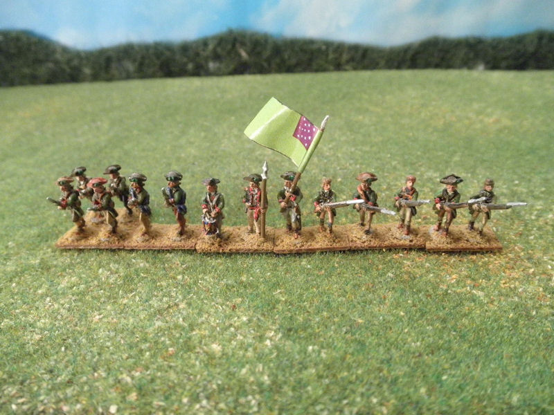 15mm AWI Infantry / Command: Green Mountain Boys - assorted Stone Mountain Miniatures AWI figures