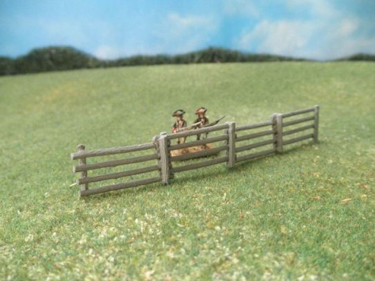 15mm Terrain: TRF1 Split 4-Rail Fence