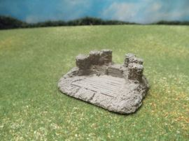 15mm Fortifications: TRF23 1 Gun Emplacements
