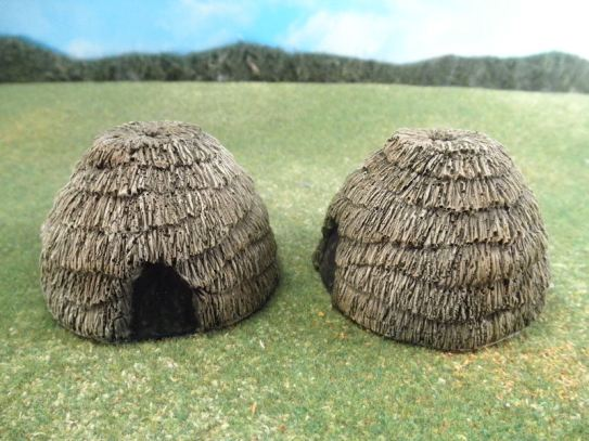 25mm African Buildings: TRF250 African Huts