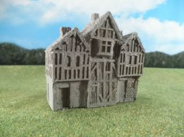 15mm English / European Buildings: TRF354 Butcher, Baker, Candlestick Maker (3 Shops)