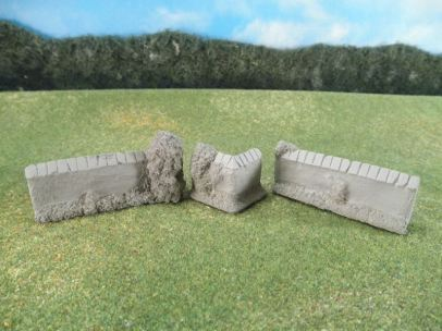 15mm Terrain: TRF367 Stone Courtyard Walls & Corners