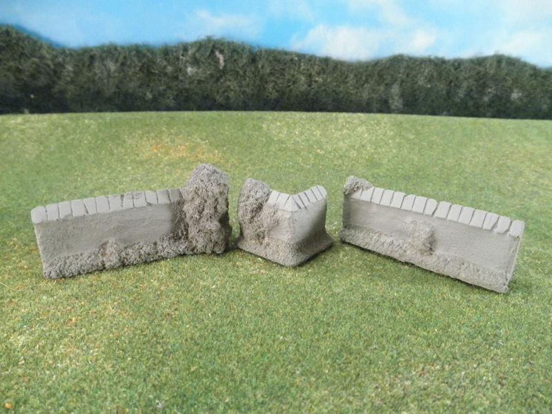 15mm Terrain: TRF367 Stone Courtyard Walls & Corners
