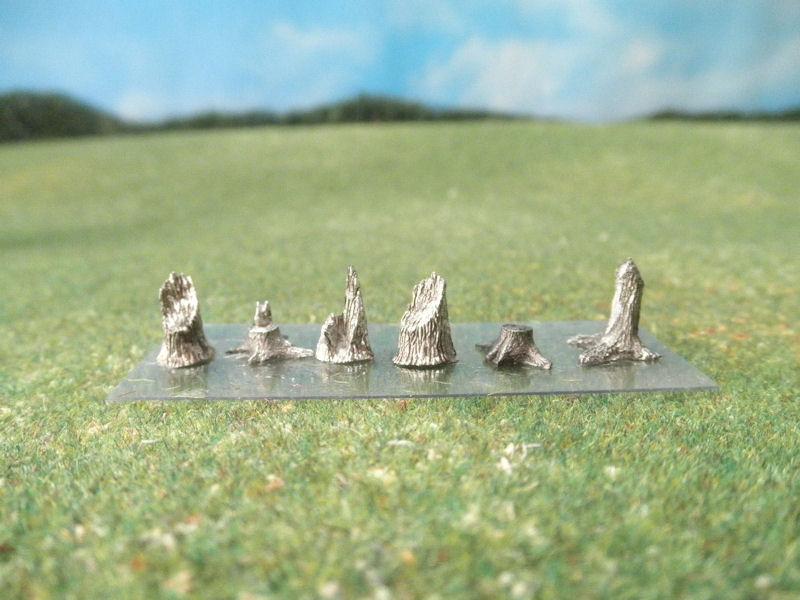 15mm Terrain: TRF54 Tree Stumps