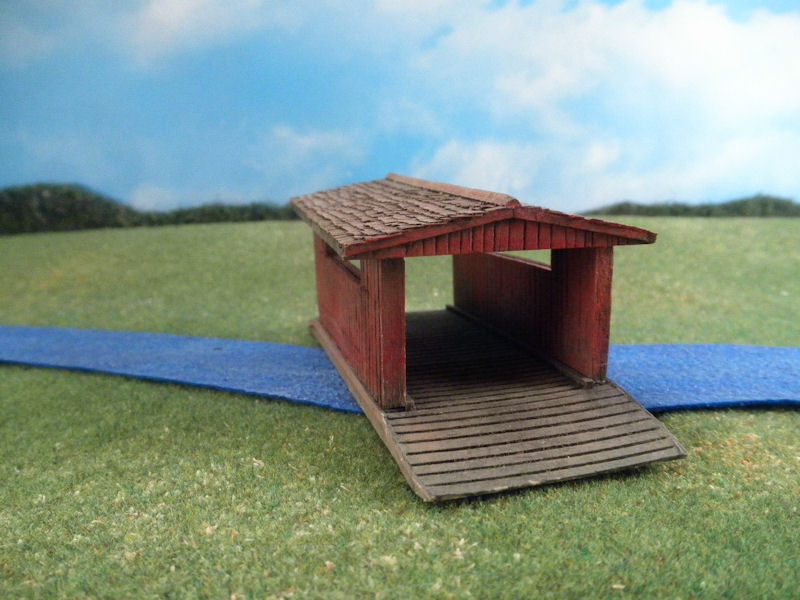 15mm Terrain: TRF60 American Covered Bridge