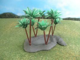 15mm Terrain / 25mm Terrain: TRF81 Desert Oasis and Palm Trees