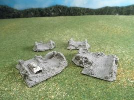 6mm European Buildings & Terrain: TRF926 Ruined Buildings