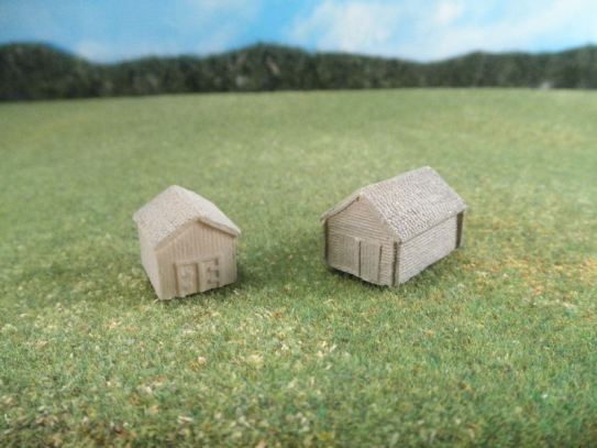 6mm ACW Buildings & Terrain: TRF984 Small Sheds / Barns