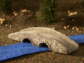 6mm ACW Buildings & Terrain: TRF988 Double Arched Stone Bridge