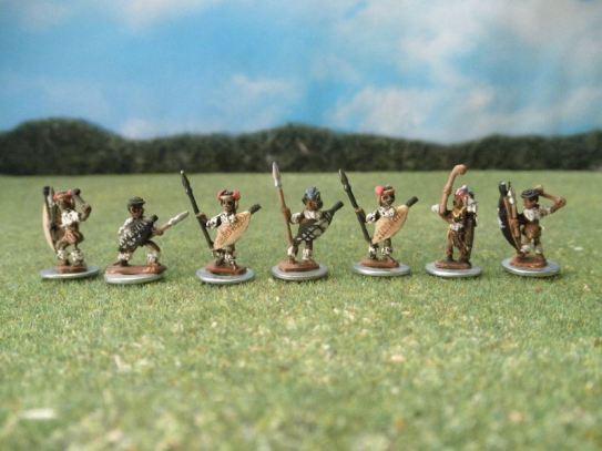 15mm British Colonials: Assorted Stone Mountain Miniatures Zulu figures