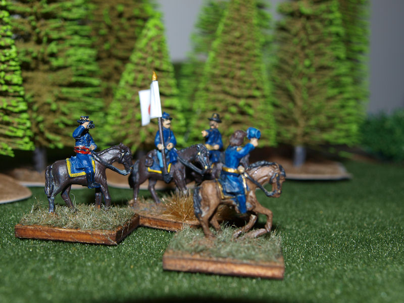 Stone Mountain Miniatures 15mm ACW: Mounted Union Command