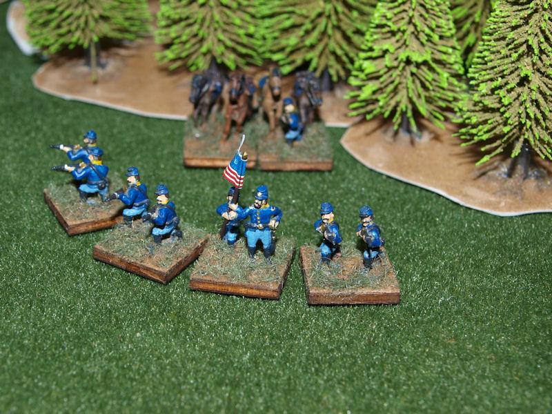 Stone Mountain Miniatures 15mm ACW: Union Dismounted Cavalry