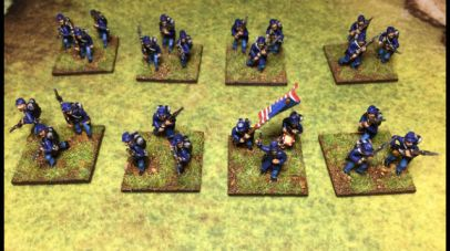 ACW2 Kepi Infantry with Backpack, Advancing & charging